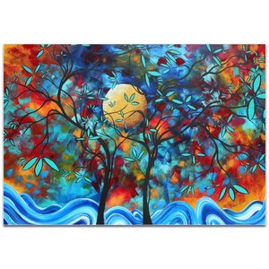 'Lovers Moon' by Megan Duncanson High-Gloss Painting Print on Acrylic Plaque by Metal Art Studio