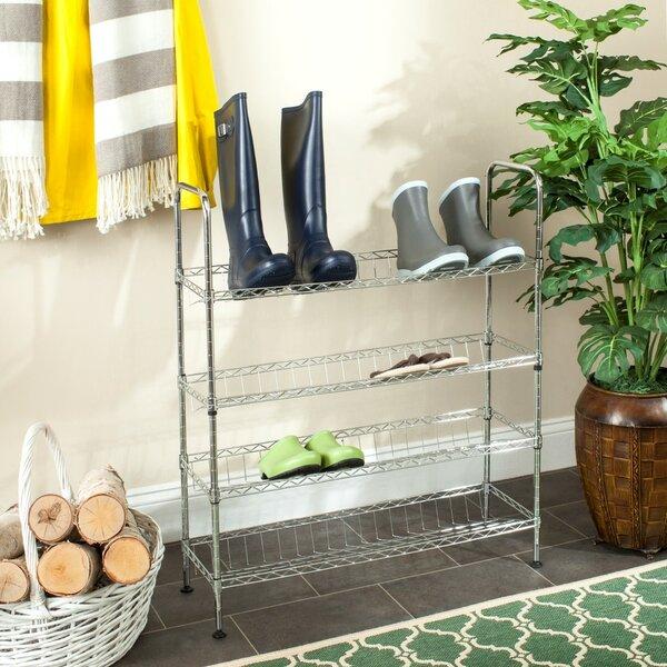 Adjustable 4-Tier Shoe Rack