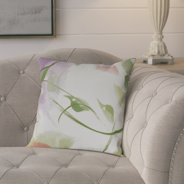 Roscoe Windy Floral Outdoor Throw Pillow by August Grove