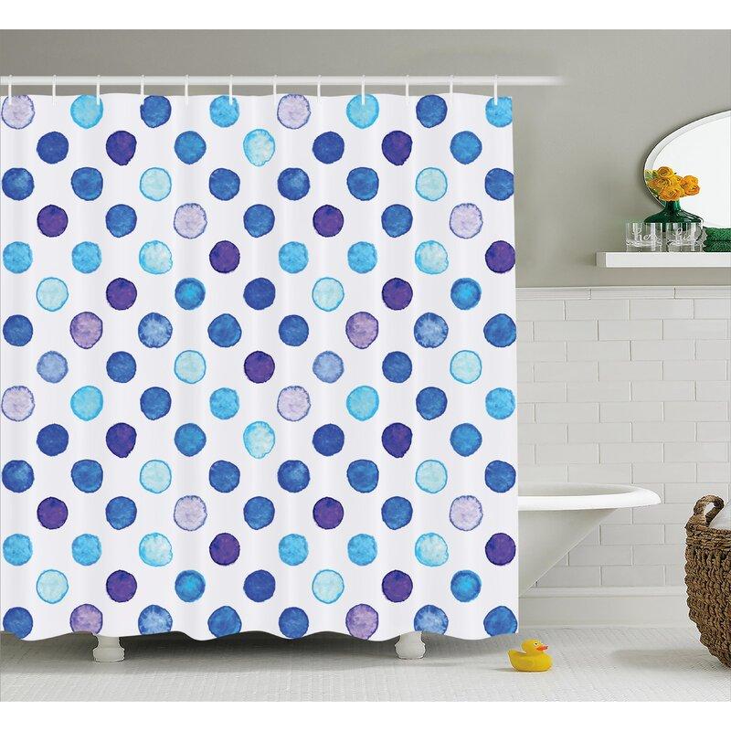 Viv + Rae Bradford Vintage Polka Dots Shower Curtain | Wayfair
