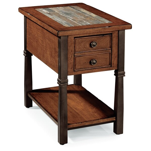 Catalie End Table With Storage By World Menagerie
