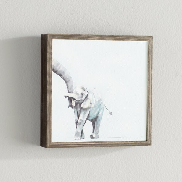 Kristine Blue You And Me Elephant by Cathy Walters Mini Framed Canvas Art by Viv + Rae