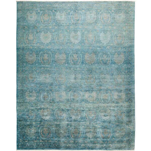 One-of-a-Kind Deveraux Hand Knotted Wool Blue Area Rug by Isabelline