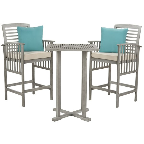 Kirsta 3 Piece Pub Table Set by World Menagerie