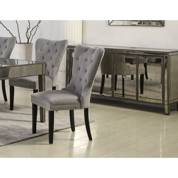 #1 Masonic Side Upholstered Dining Chair (Set Of 2) By Rosdorf Park New Design