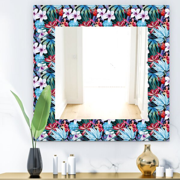 Obsidian Bloom 23 Bohemian and Eclectic Wall Mirror