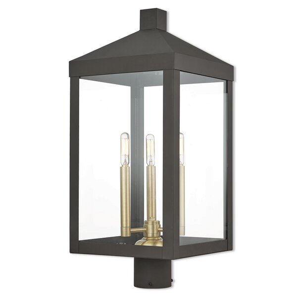 Demery 3-Light Outdoor Lantern Head by Mercury Row