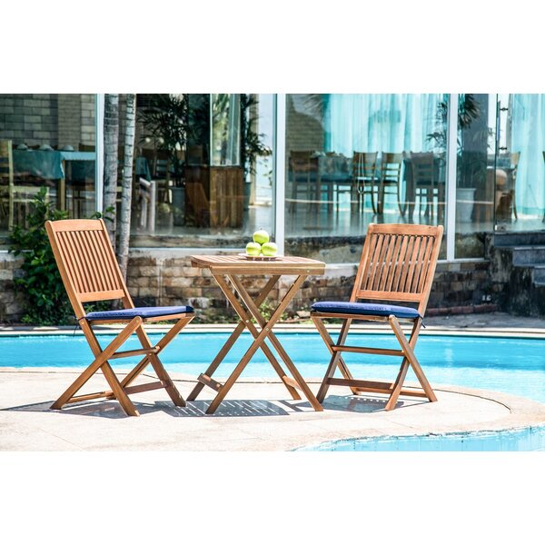 Nil Classic Folding Patio Dining Chair with Cushion by Highland Dunes
