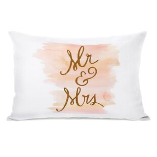 Mechling Mr And Mrs Brushstrokes Lumbar Pillow