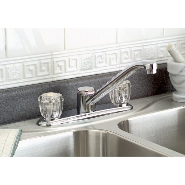 Bayview Double Handle Kitchen Faucet with Side Spray