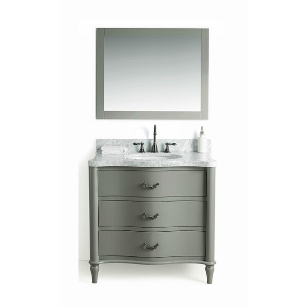 Filomena Solid Wood 37 Single Bathroom Vanity Set with Mirror by August Grove