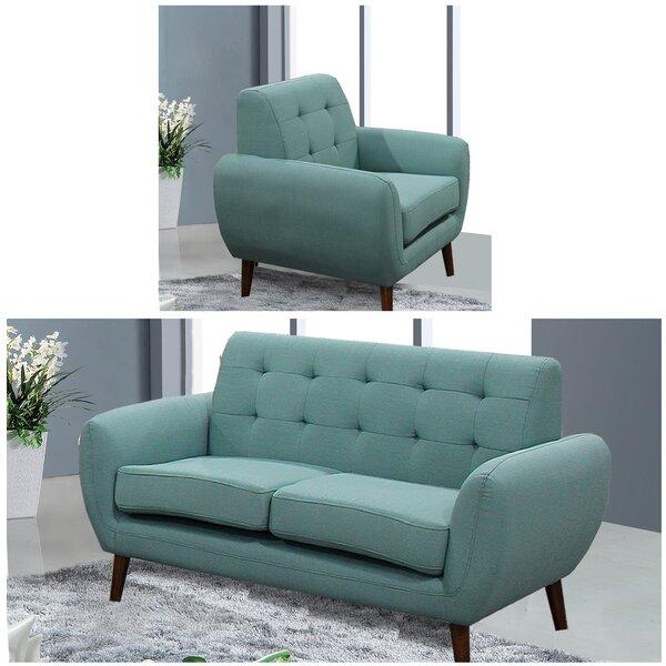 Diara 2 Piece Living Room Set by Zipcode Design
