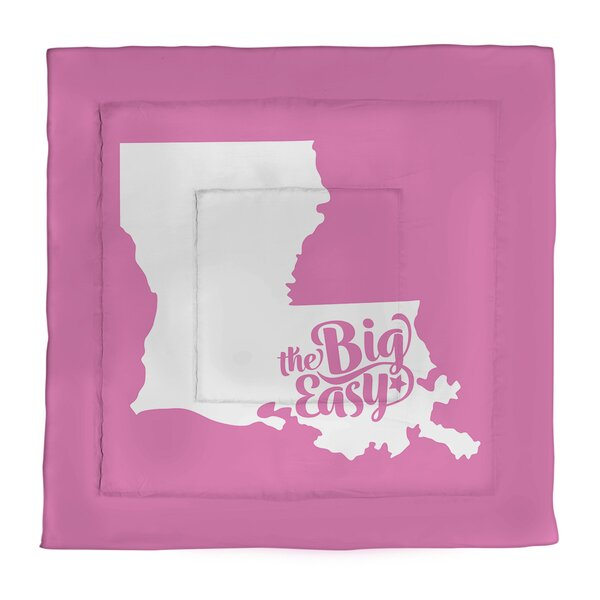 The Big Easy Louisiana Microfiber Comforter - Queen Size