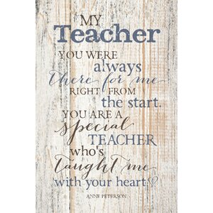 My Teacher… Textual Art Plaque by Dexsa