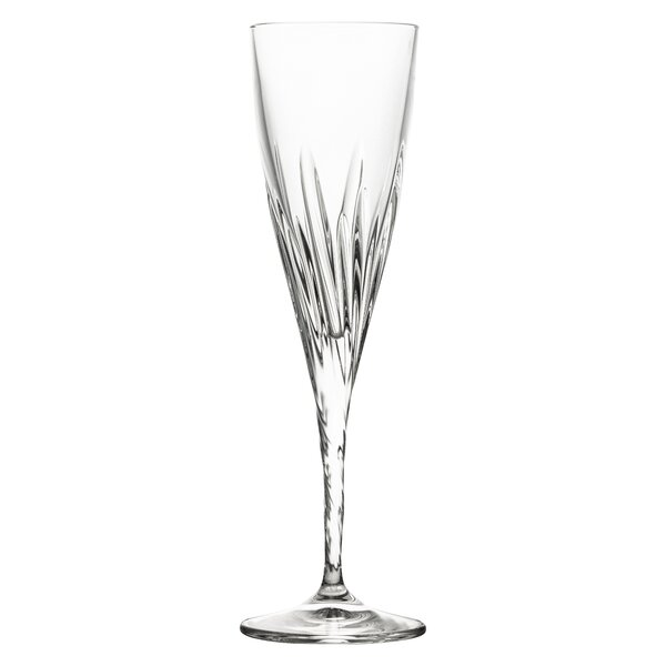 Braun Crystal Glass 6 oz. Champagne Flute (Set of 6) by House of Hampton
