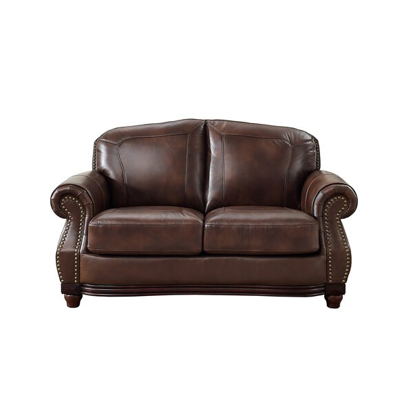 Rude Leather Loveseat By Canora Grey Design