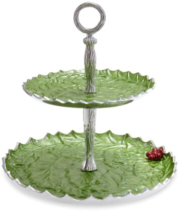 Holly Sprig Two Tiered Stand by Julia Knight Inc