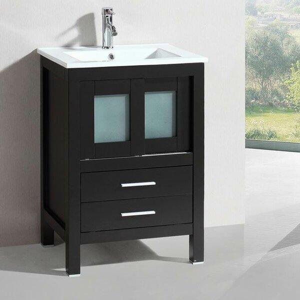 Modern Freestanding 24 Single Bathroom Vanity Set by Belvedere Bath