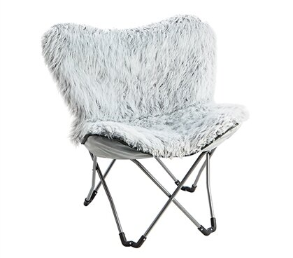 Lopp Fur Butterfly Chair By Latitude Run
