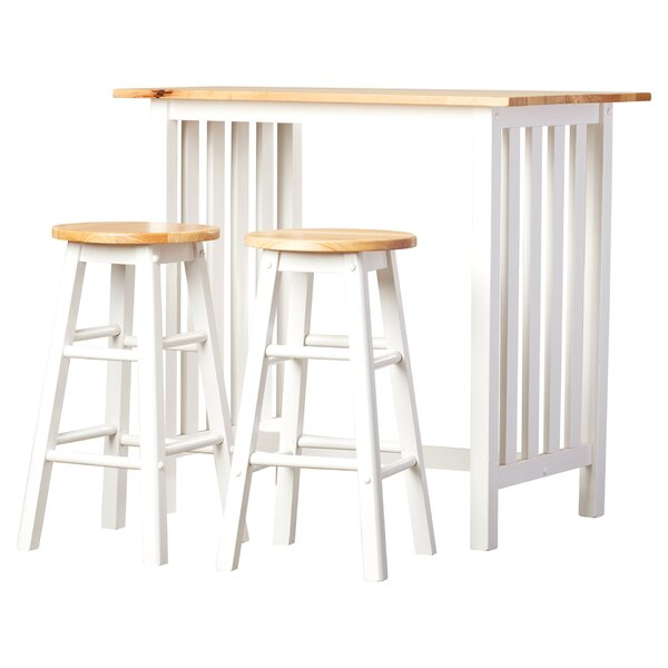 Sigrid 3 Piece Counter Height Pub Table Set by August Grove