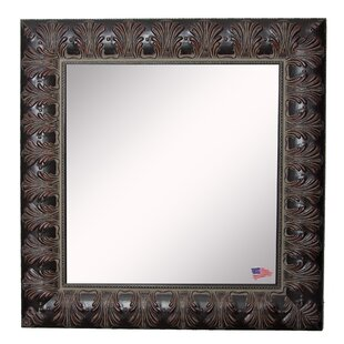 Astoria Grand Square Feathered Accent Wall Mirror