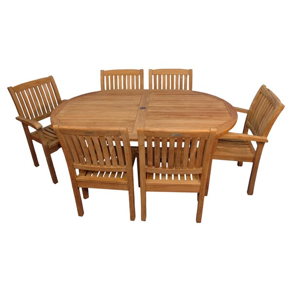 Jackson 7 Piece Teak Dining Set by Rosecliff Heights