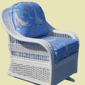 Read Reviews Regatta Single Glider Chair by Spice Islands Wicker
