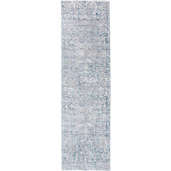 Emmalynn Atlantic Ivory/Gray/Blue Area Rug by Bungalow Rose