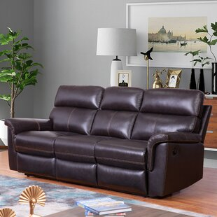 Paden Genuine Leather Reclining Living Room Set by Red Barrel Studio®