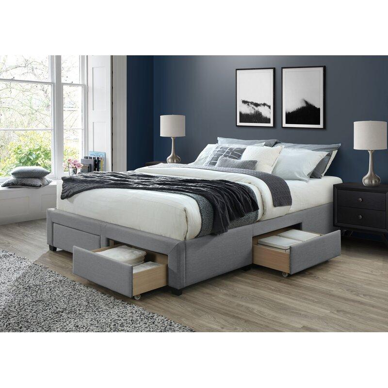 Red Barrel Studio Braham Queen Upholstered Storage Platform Bed Reviews Wayfair
