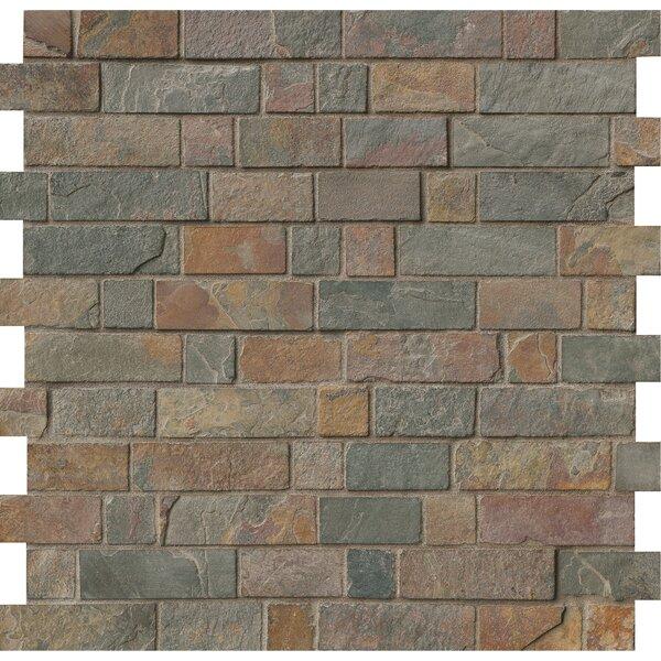 Random Sized Slate Mosaic Tile in California Gold by MSI