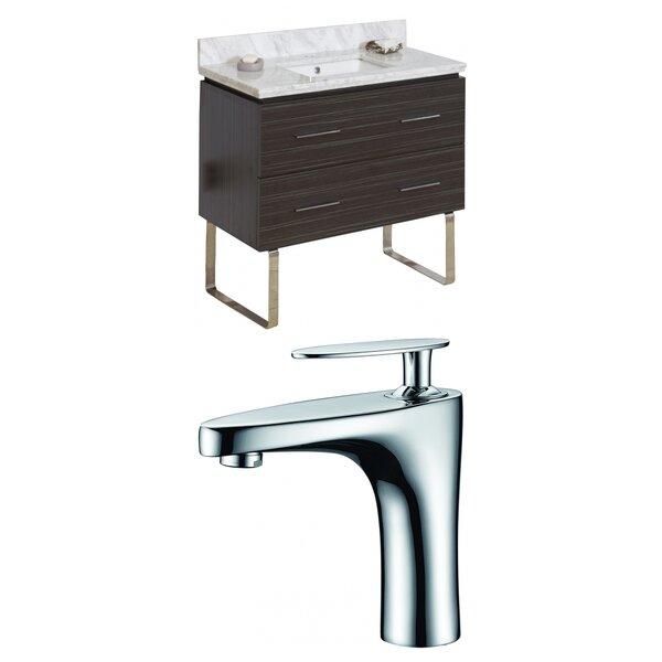 Kyra 36 Single Bathroom Vanity Set with Stone Top