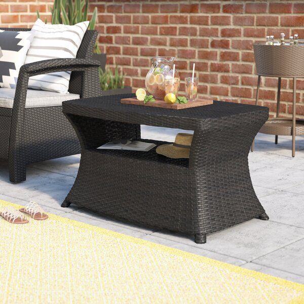 Armenta Wicker Outdoor Dining Table by Mercury Row