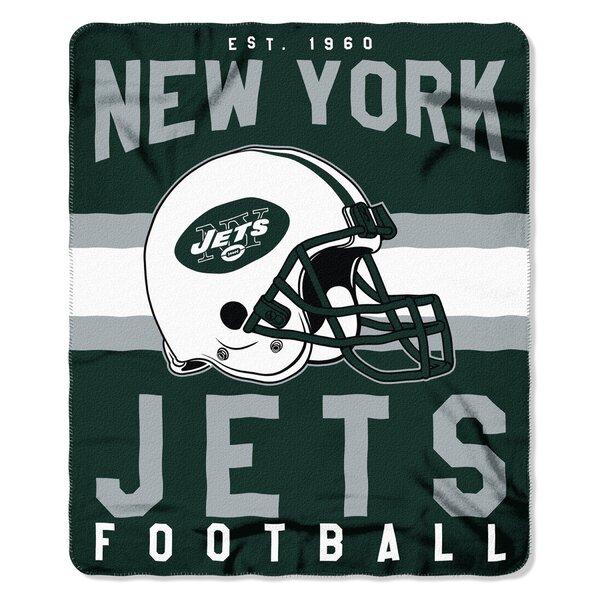 NFL New York Jets Printed Fleece Throw by Northwest