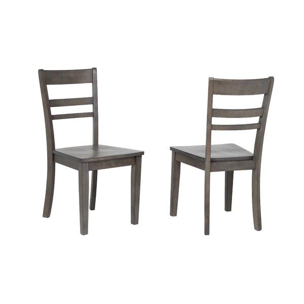 Gorman Slat Back Solid Wood Dining Chair (Set of 2) by Rosalind Wheeler Rosalind Wheeler