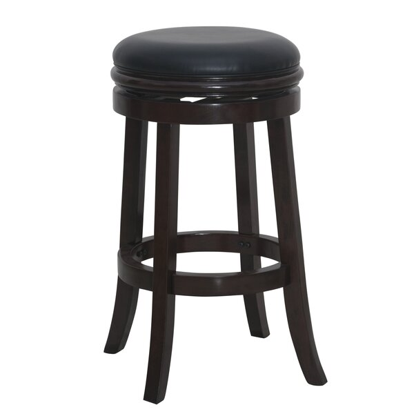 Bristol 29 Swivel Bar Stool by Three Posts