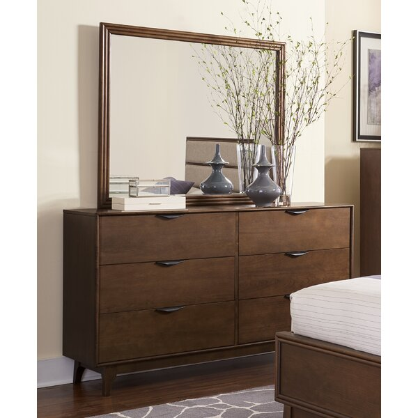 Theresa 6 Drawer Double Dresser with Mirror by Langley Street