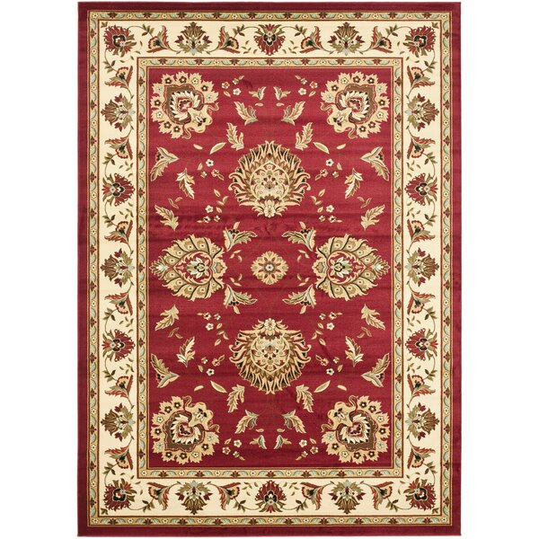 Ottis Red/Ivory Persian Area Rug by Charlton Home