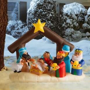 Christmas Inflatable Nativity Scene Under Stable Decoration Outdoor Sets You\u0027ll Love | Wayfair