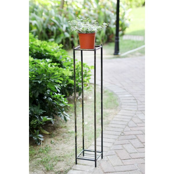 Stone Slab 2 Tier Large Square Cast-Iron Plant Stand by ORE Furniture