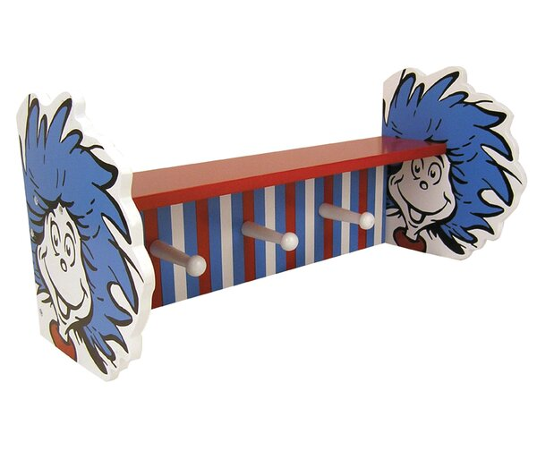 Dr Seuss Cat In The Hat Thing 1 And Thing 2 Shelf With Peg By Trend Lab.