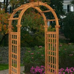 Rosewood Wood Arbor by New England Arbors