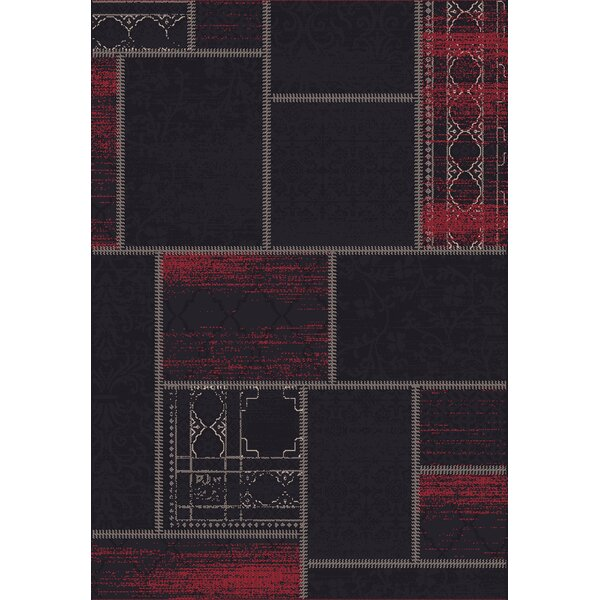Vintage Black/Red Rug by Dynamic Rugs