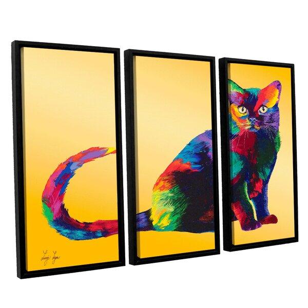 Dark Velvet by Linzi Lynn 3 Piece Framed Painting Print Set by ArtWall