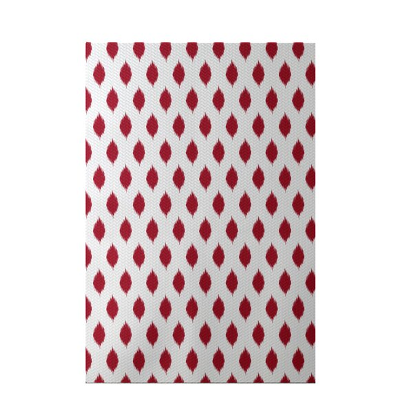 Cop-Ikat Red Indoor/Outdoor Area Rug by e by design