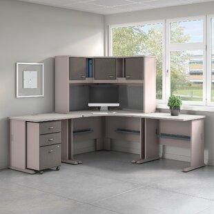 Series A 5 Piece L-Shape Desk Office Suite ByBush Business Furniture