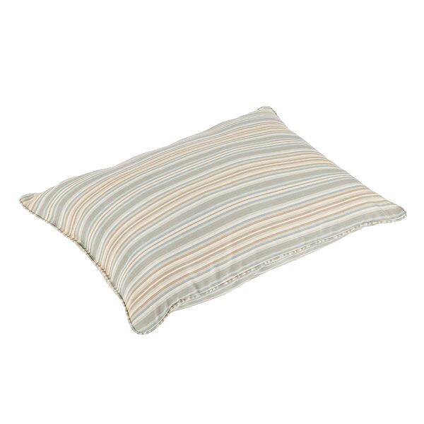 Cavisson Stripe Piped Indoor/Outdoor Sunbrella Floor Pillow by Rosecliff Heights