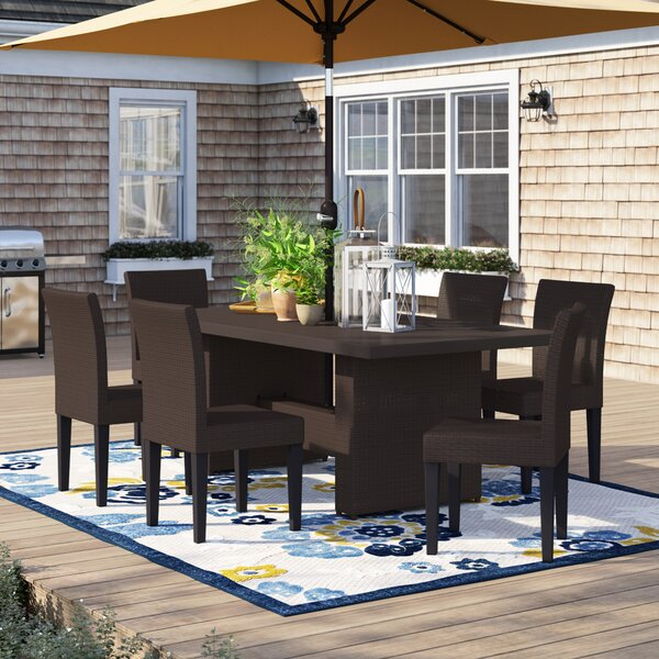 Tegan 7 Piece Outdoor Patio Dining Set by Sol 72 Outdoor