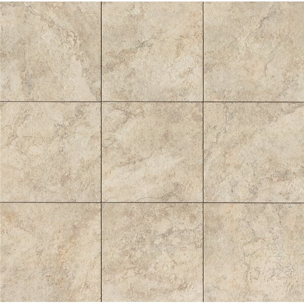 Forge 13 x 13 Porcelain Field Tile in White by Bedrosians