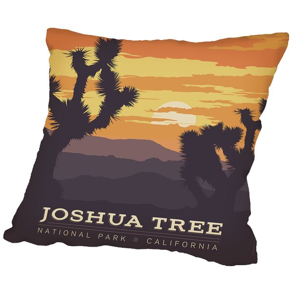 Joshua Tree Np Throw Pillow by East Urban Home